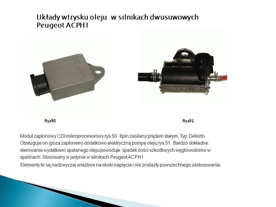 Układy wtrysku oleju w silnikach dwusuwowych Peugeot ACPH1