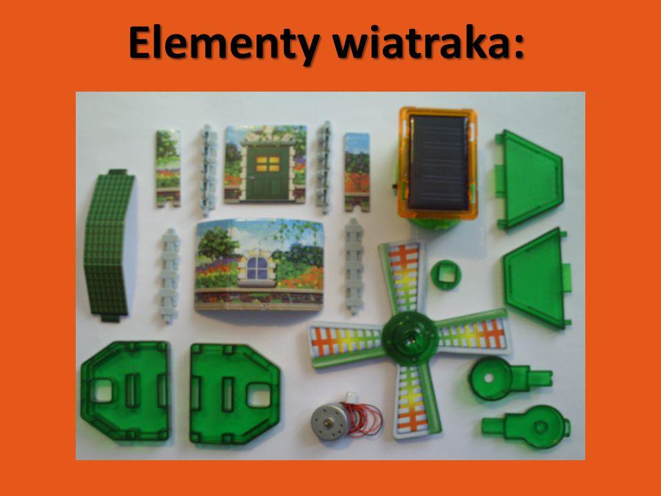 Elementy wiatraka: