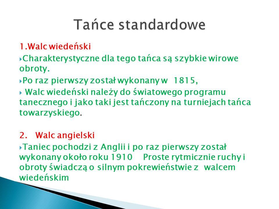 Tańce standardowe 1.Walc wiedeński