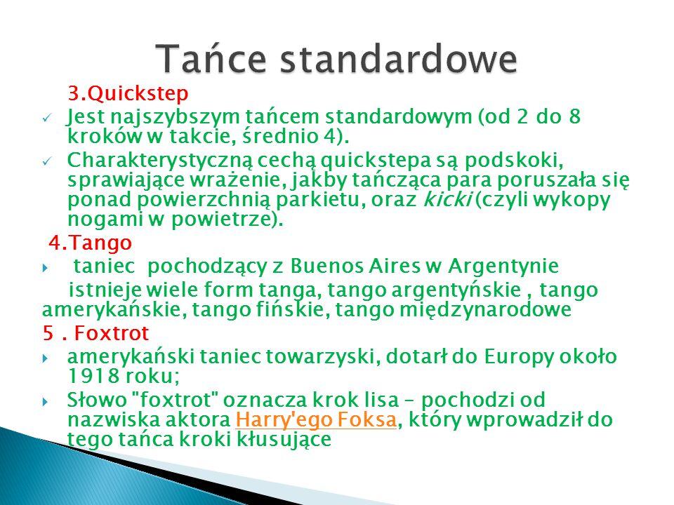 Tańce standardowe 3.Quickstep