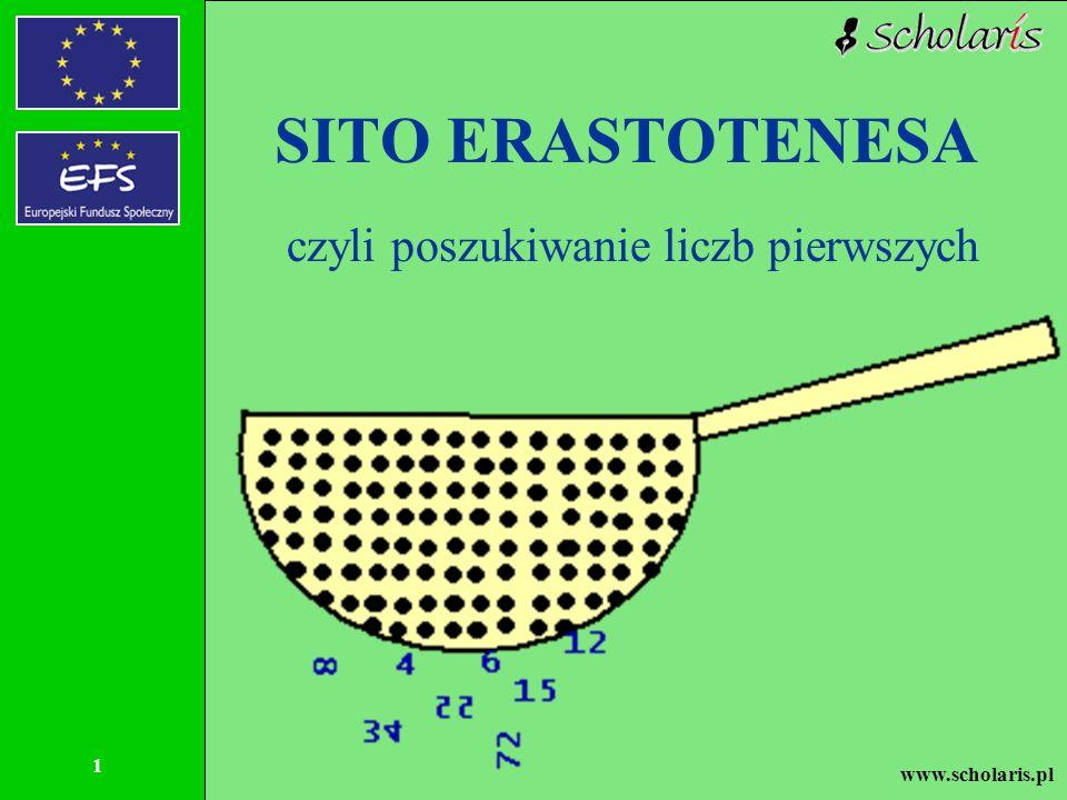 SITO ERASTOTENESA czyli poszukiwanie liczb pierwszych