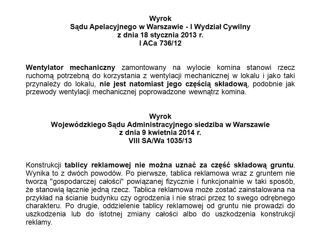 Sądu Apelacyjnego w Warszawie - I Wydział Cywilny