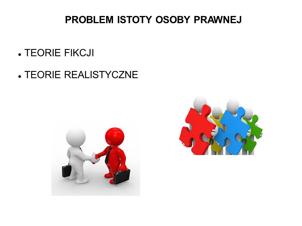 PROBLEM ISTOTY OSOBY PRAWNEJ