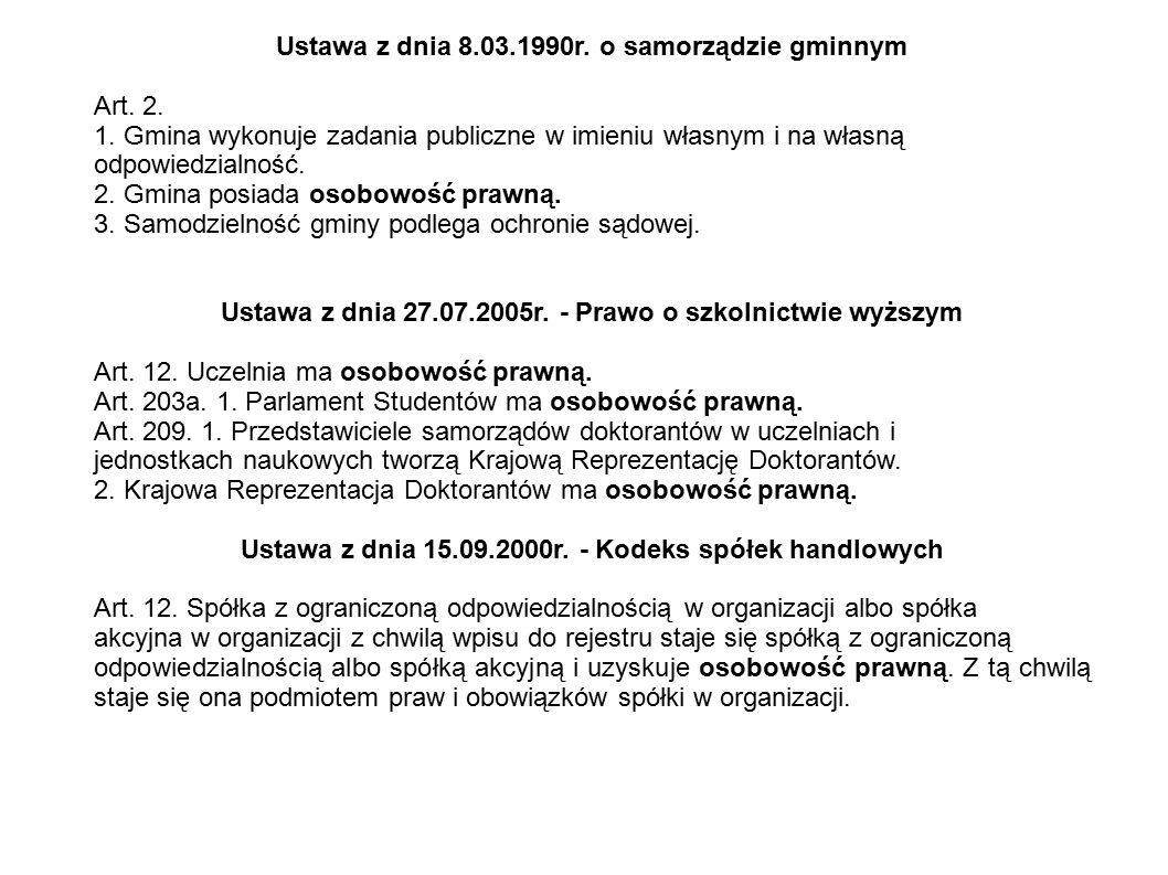 Ustawa z dnia 8.03.1990r. o samorządzie gminnym Art. 2.