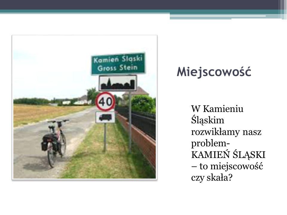 Miejscowość W Kamieniu Śląskim rozwikłamy nasz problem- KAMIEŃ ŚLĄSKI – to miejscowość czy skała