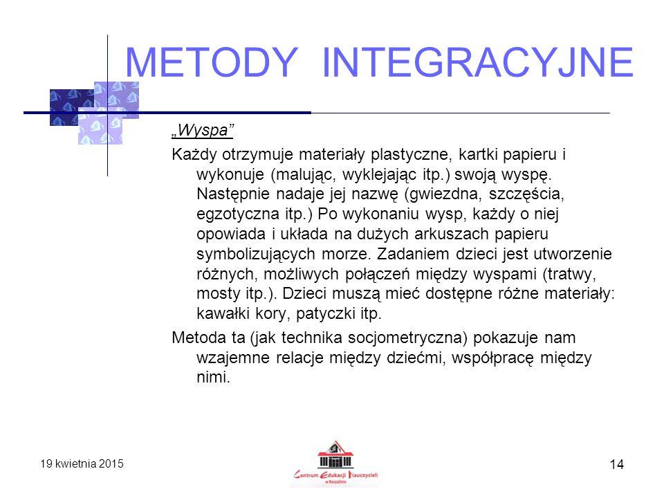 METODY INTEGRACYJNE
