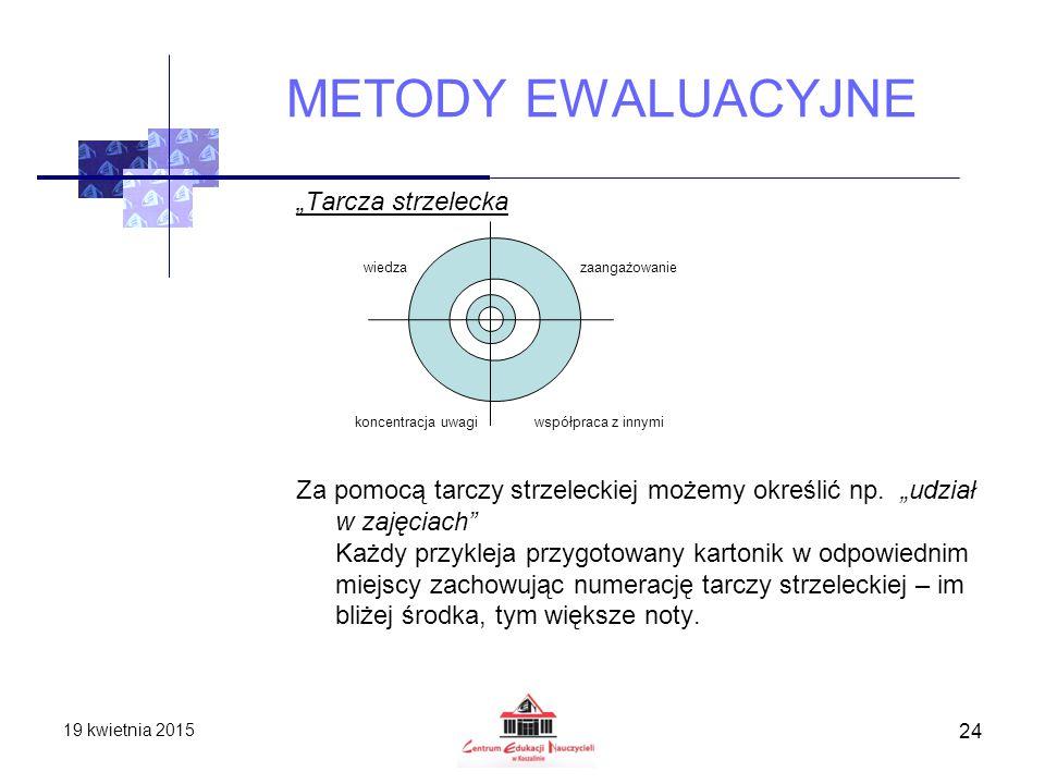 """METODY EWALUACYJNE """"Tarcza strzelecka"""