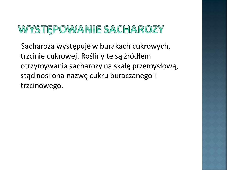 Występowanie sacharozy