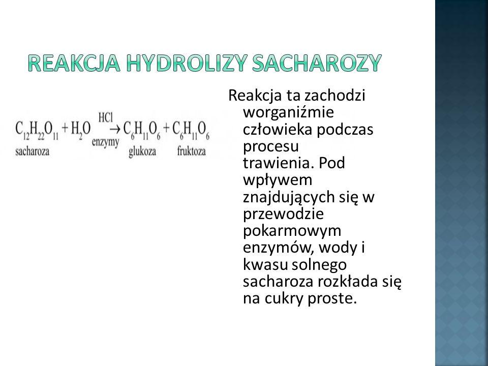 Reakcja hydrolizy sacharozy