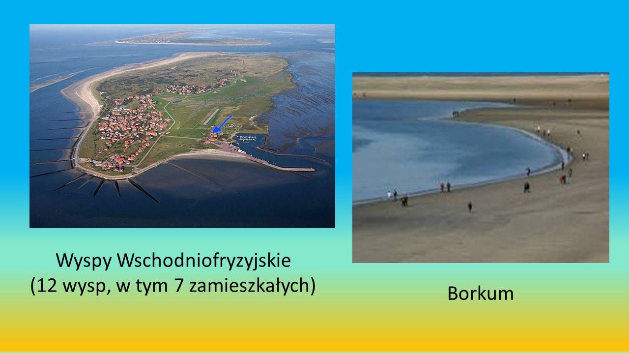 Wyspy Wschodniofryzyjskie (12 wysp, w tym 7 zamieszkałych) Borkum