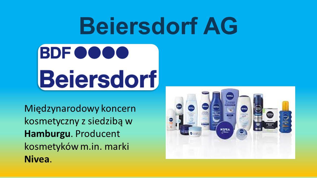 Beiersdorf AG Międzynarodowy koncern kosmetyczny z siedzibą w Hamburgu.