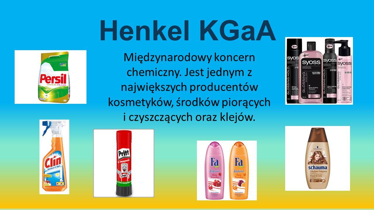 Henkel KGaA Międzynarodowy koncern chemiczny.