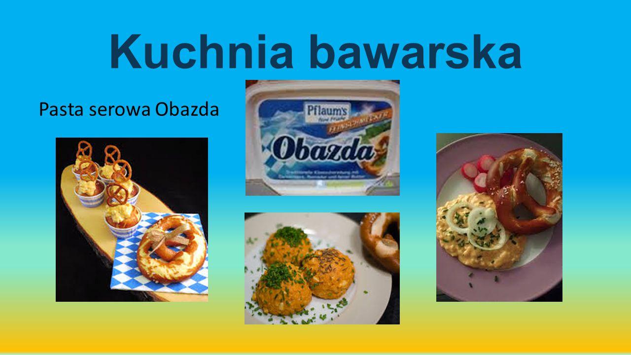 Kuchnia bawarska Pasta serowa Obazda