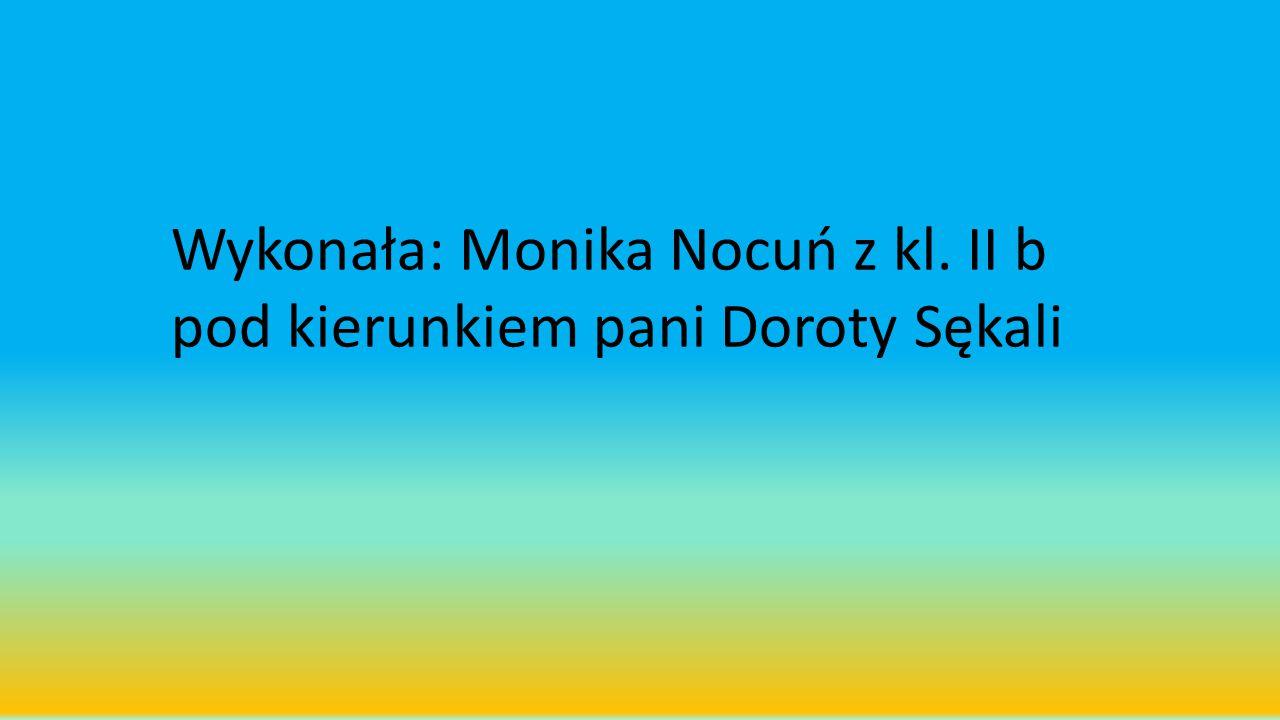 Wykonała: Monika Nocuń z kl. II b pod kierunkiem pani Doroty Sękali