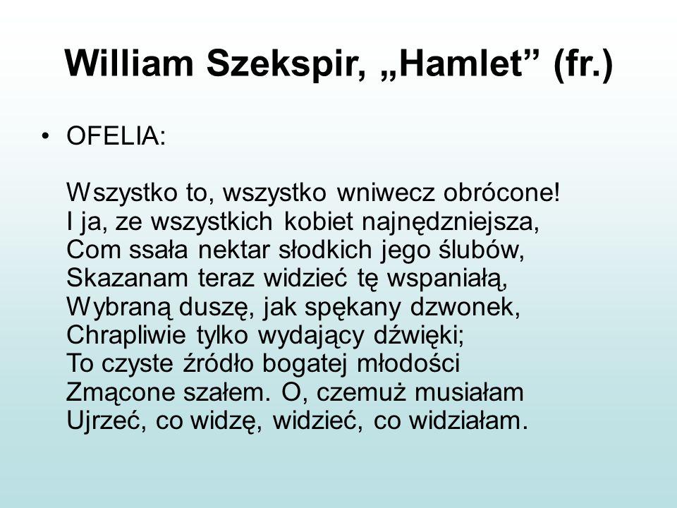 """William Szekspir, """"Hamlet (fr.)"""