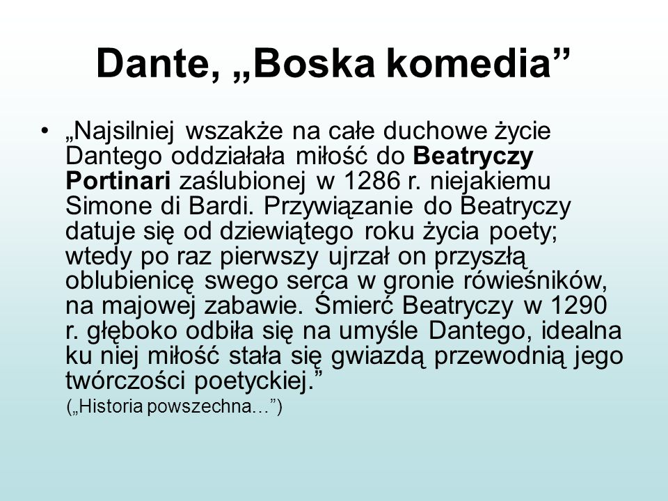 "Dante, ""Boska komedia"