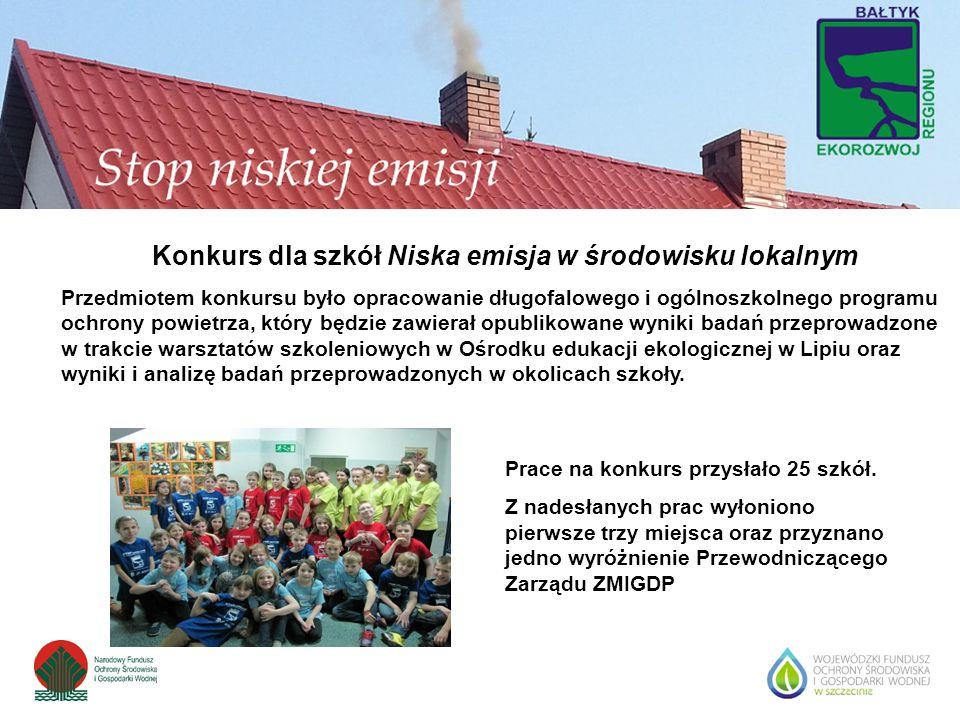 Konkurs dla szkół Niska emisja w środowisku lokalnym