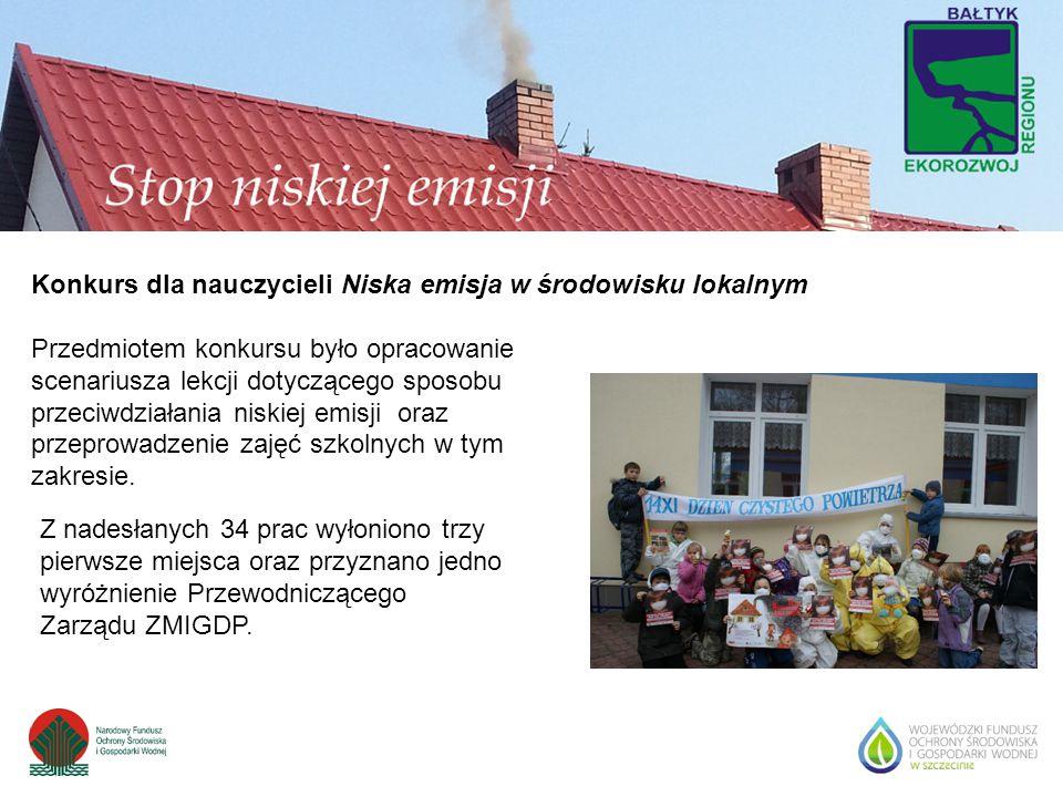 Konkurs dla nauczycieli Niska emisja w środowisku lokalnym