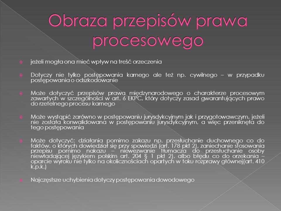 Obraza przepisów prawa procesowego