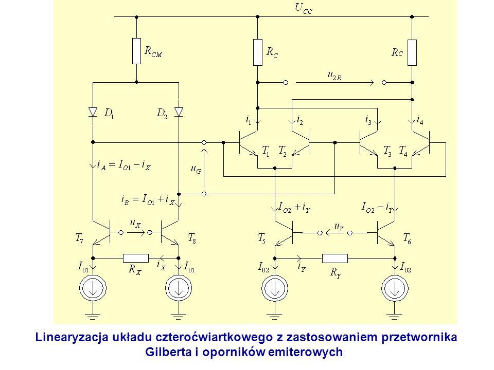 Linearyzacja układu czteroćwiartkowego z zastosowaniem przetwornika