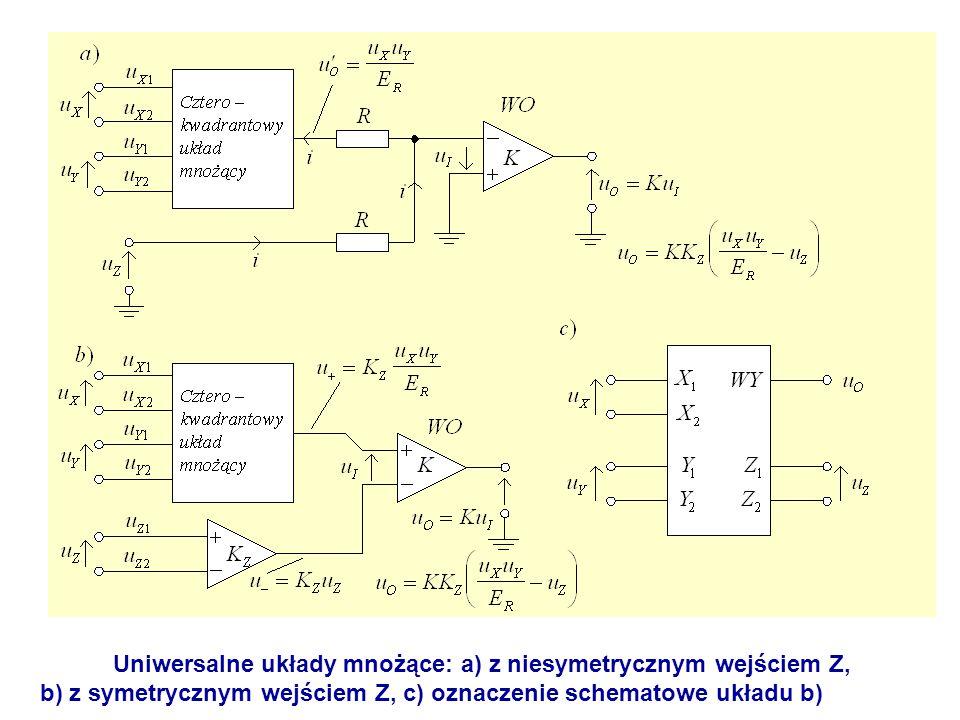 Uniwersalne układy mnożące: a) z niesymetrycznym wejściem Z,