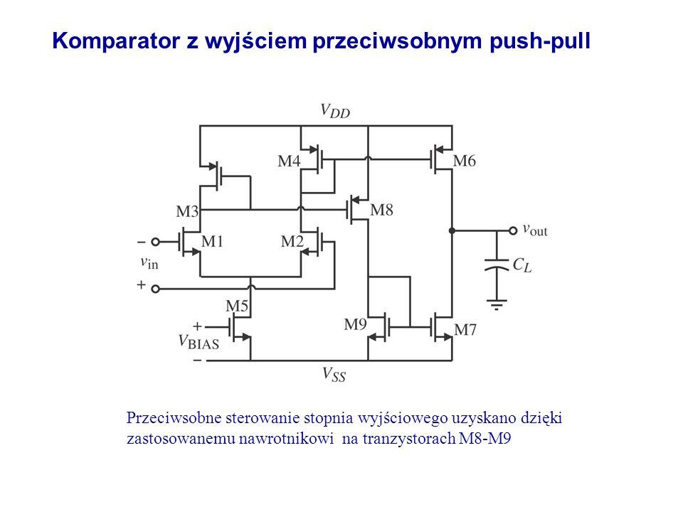 Komparator z wyjściem przeciwsobnym push-pull