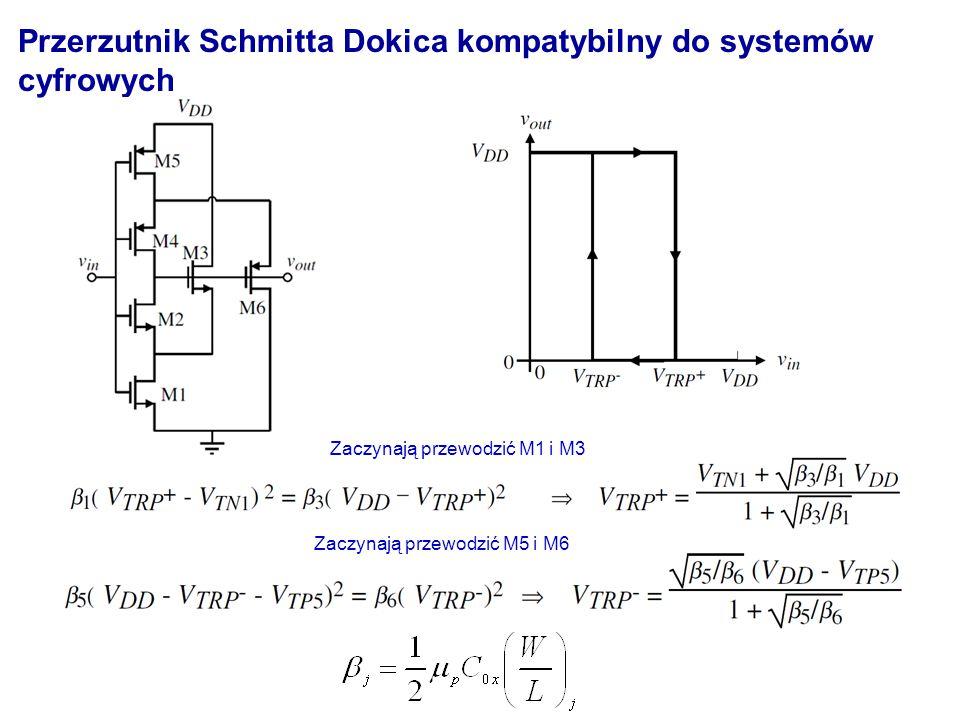 Przerzutnik Schmitta Dokica kompatybilny do systemów cyfrowych