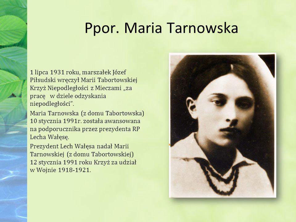 Ppor. Maria Tarnowska