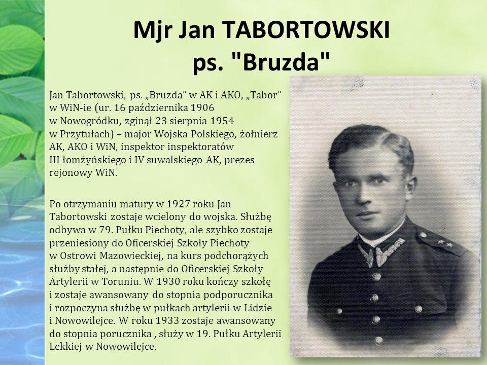 Mjr Jan TABORTOWSKI ps. Bruzda