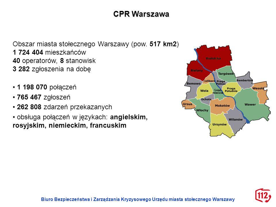 CPR Warszawa Obszar miasta stołecznego Warszawy (pow. 517 km2)
