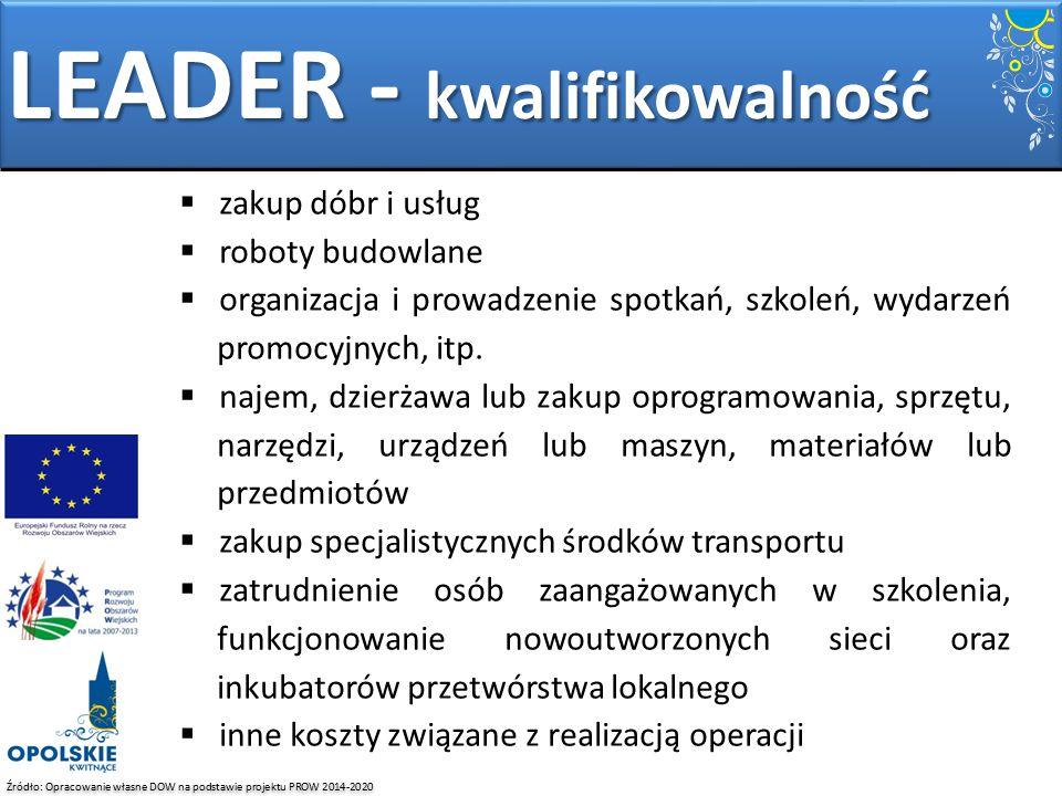 LEADER - kwalifikowalność