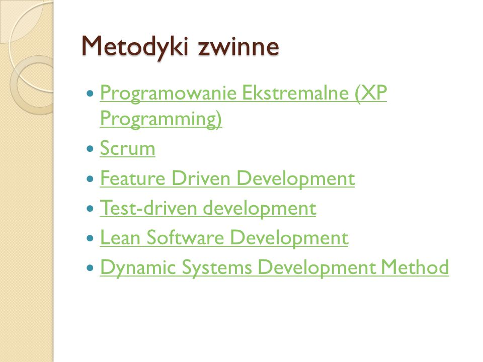Metodyki zwinne Programowanie Ekstremalne (XP Programming) Scrum