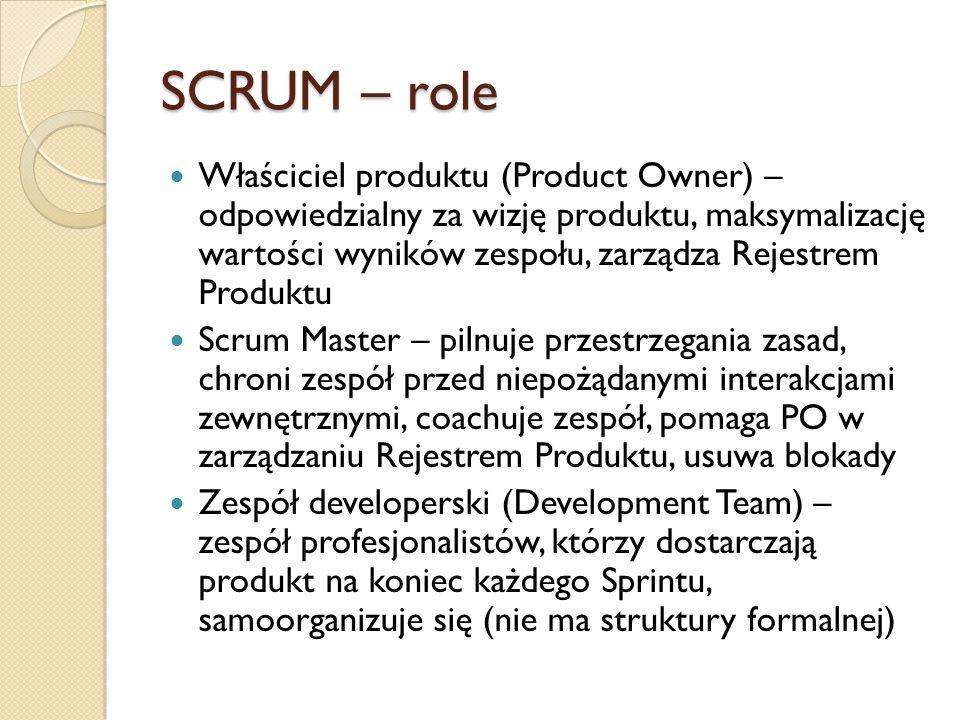 SCRUM – role