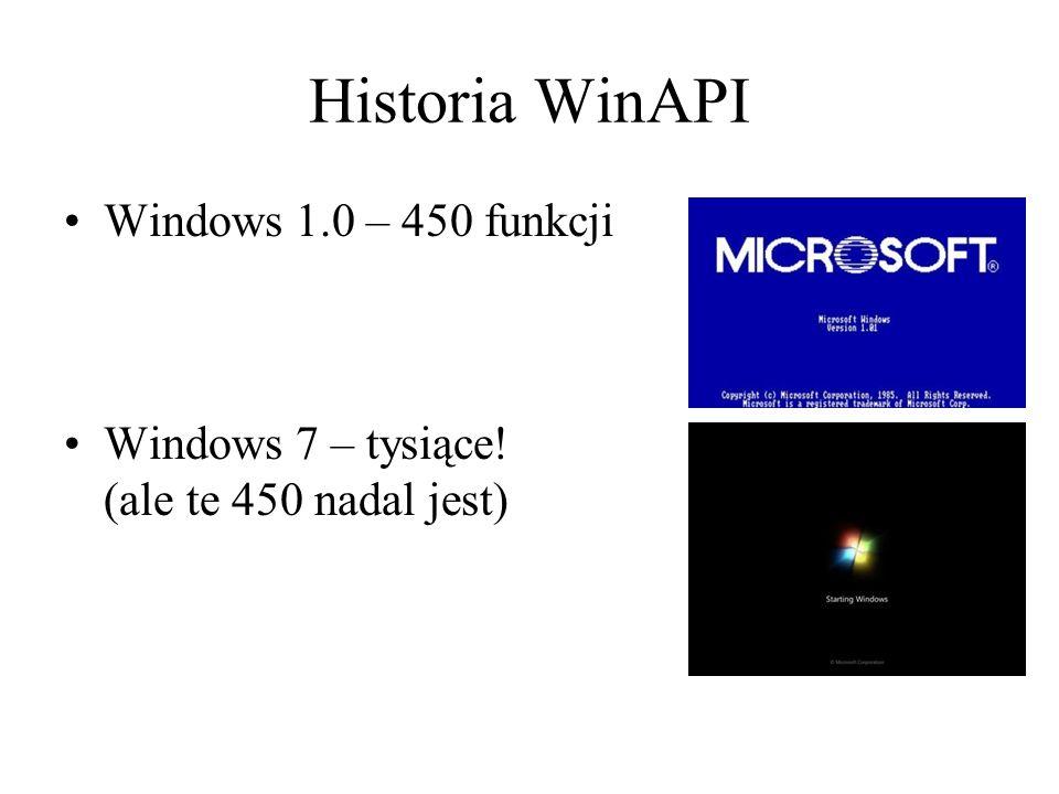 Historia WinAPI Windows 1.0 – 450 funkcji