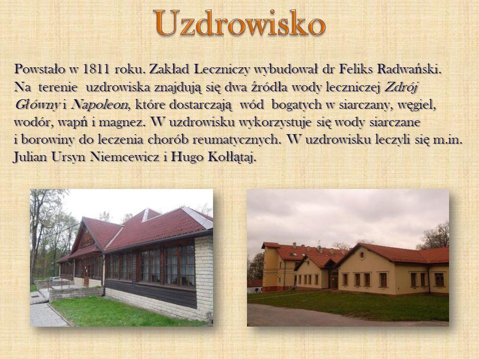 Uzdrowisko Powstało w 1811 roku. Zakład Leczniczy wybudował dr Feliks Radwański.