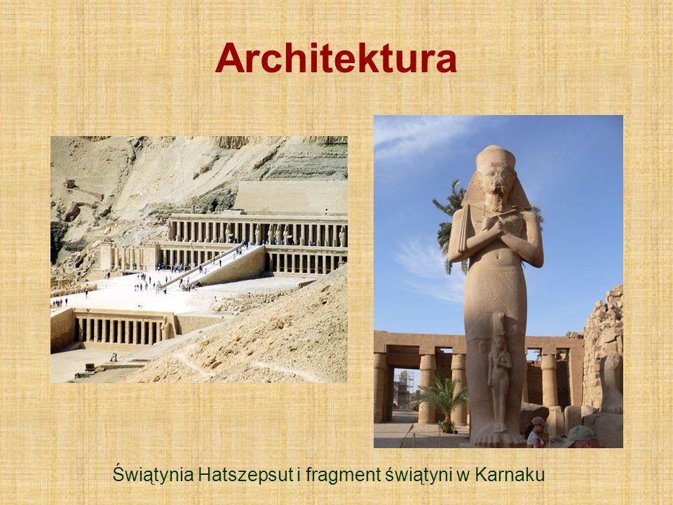 Świątynia Hatszepsut i fragment świątyni w Karnaku