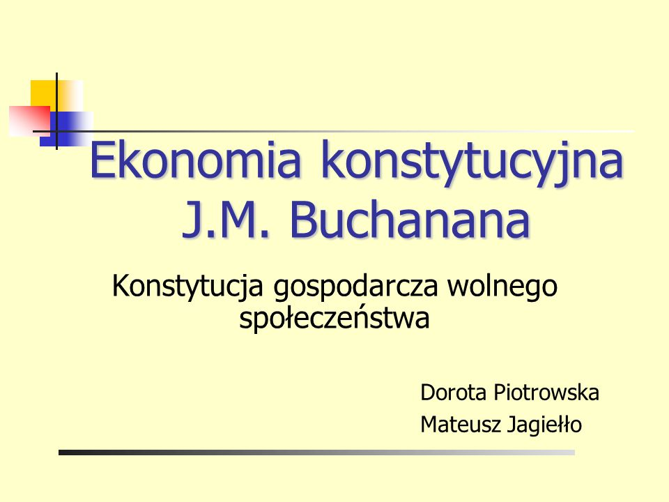 Ekonomia konstytucyjna J.M. Buchanana