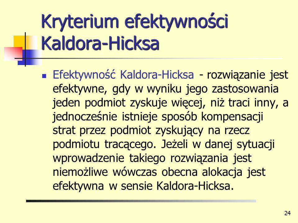 Kryterium efektywności Kaldora-Hicksa