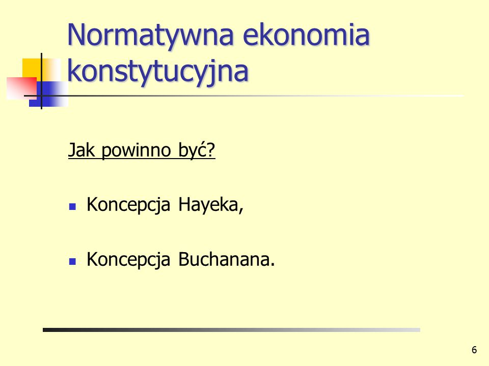 Normatywna ekonomia konstytucyjna
