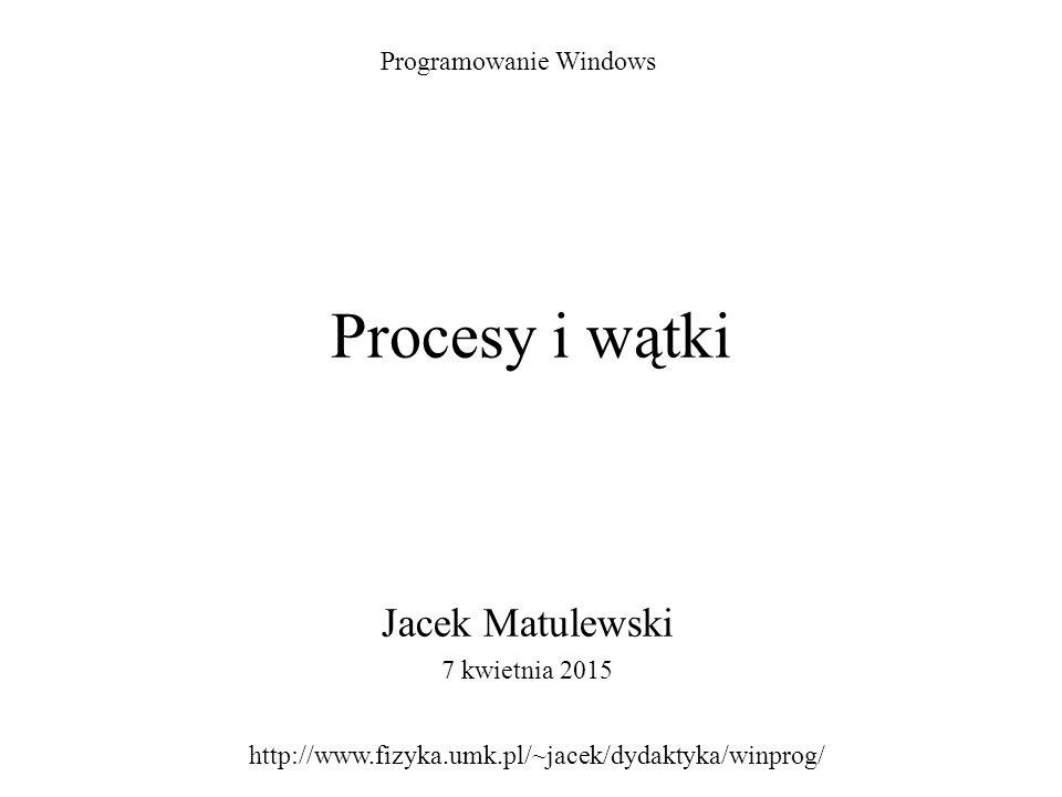 Jacek Matulewski 7 kwietnia 2015