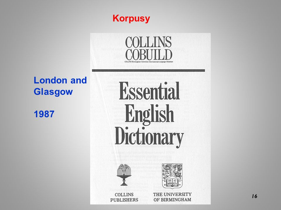 Korpusy London and Glasgow 1987 16 16