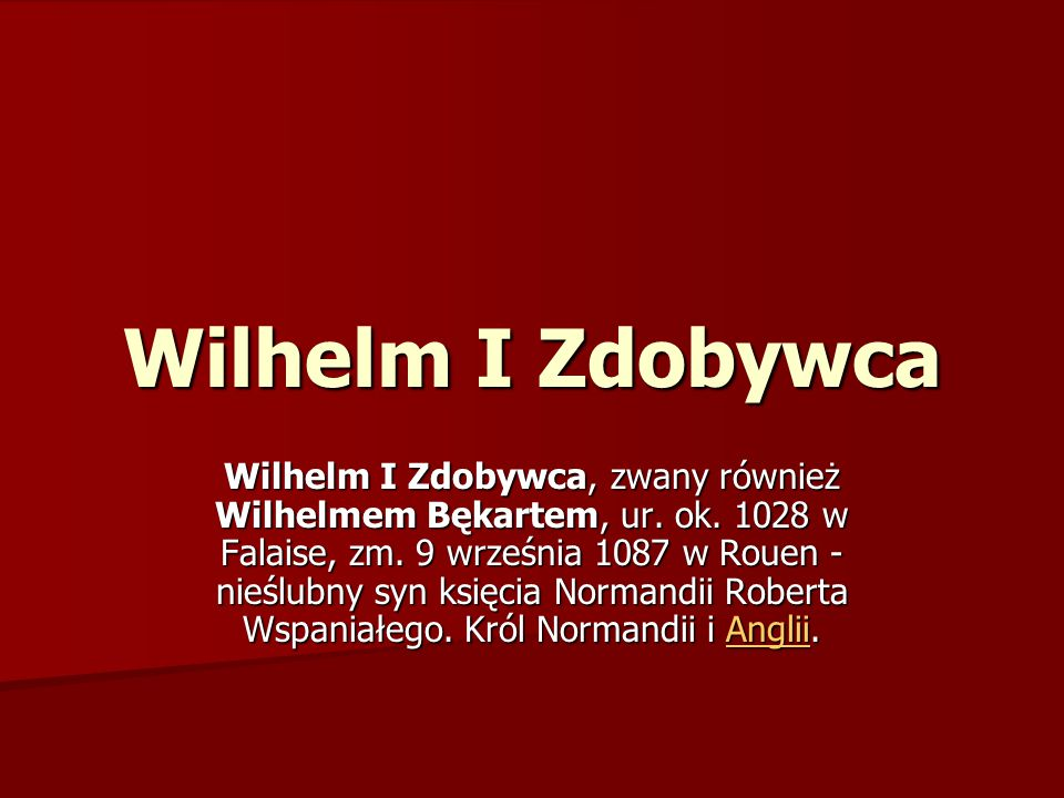 Wilhelm I Zdobywca