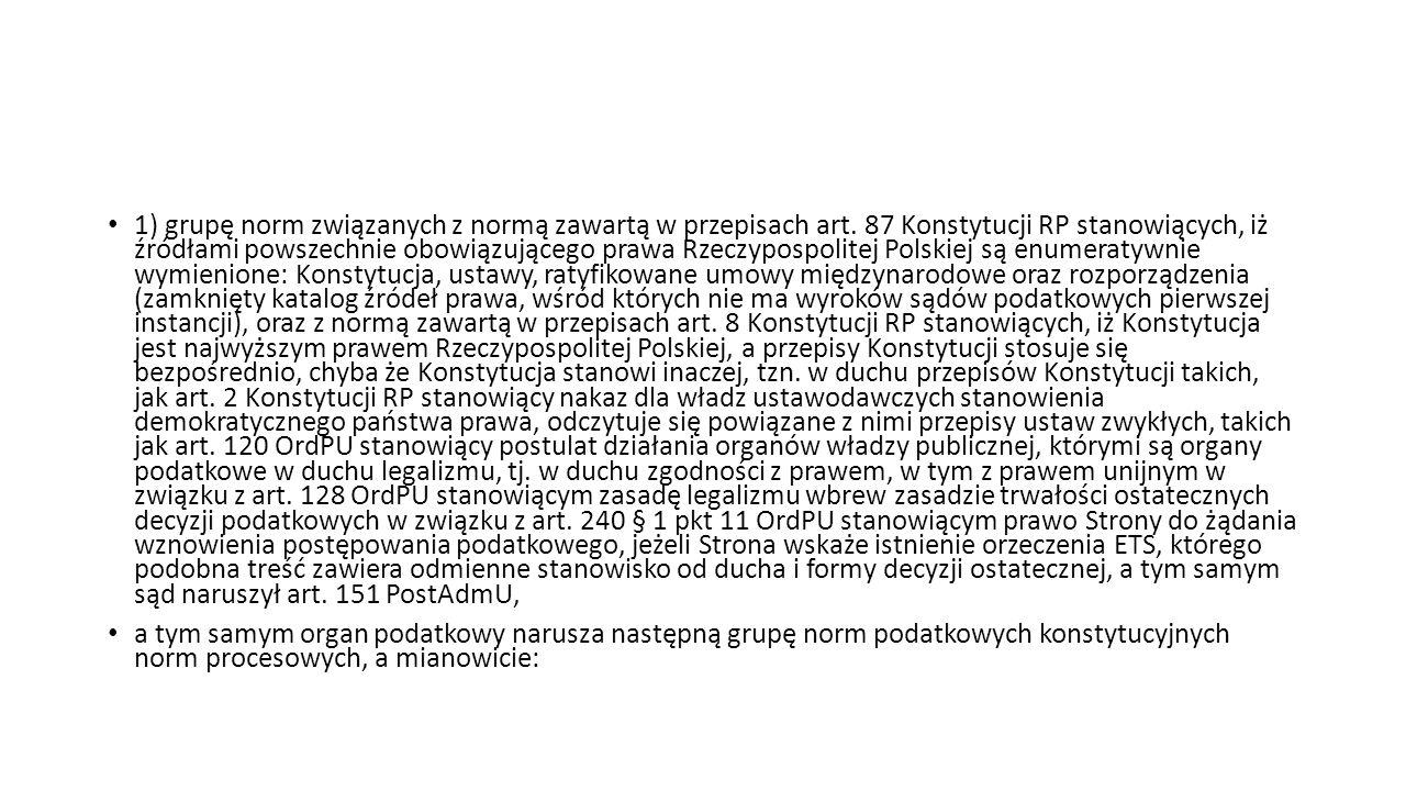 1) grupę norm związanych z normą zawartą w przepisach art