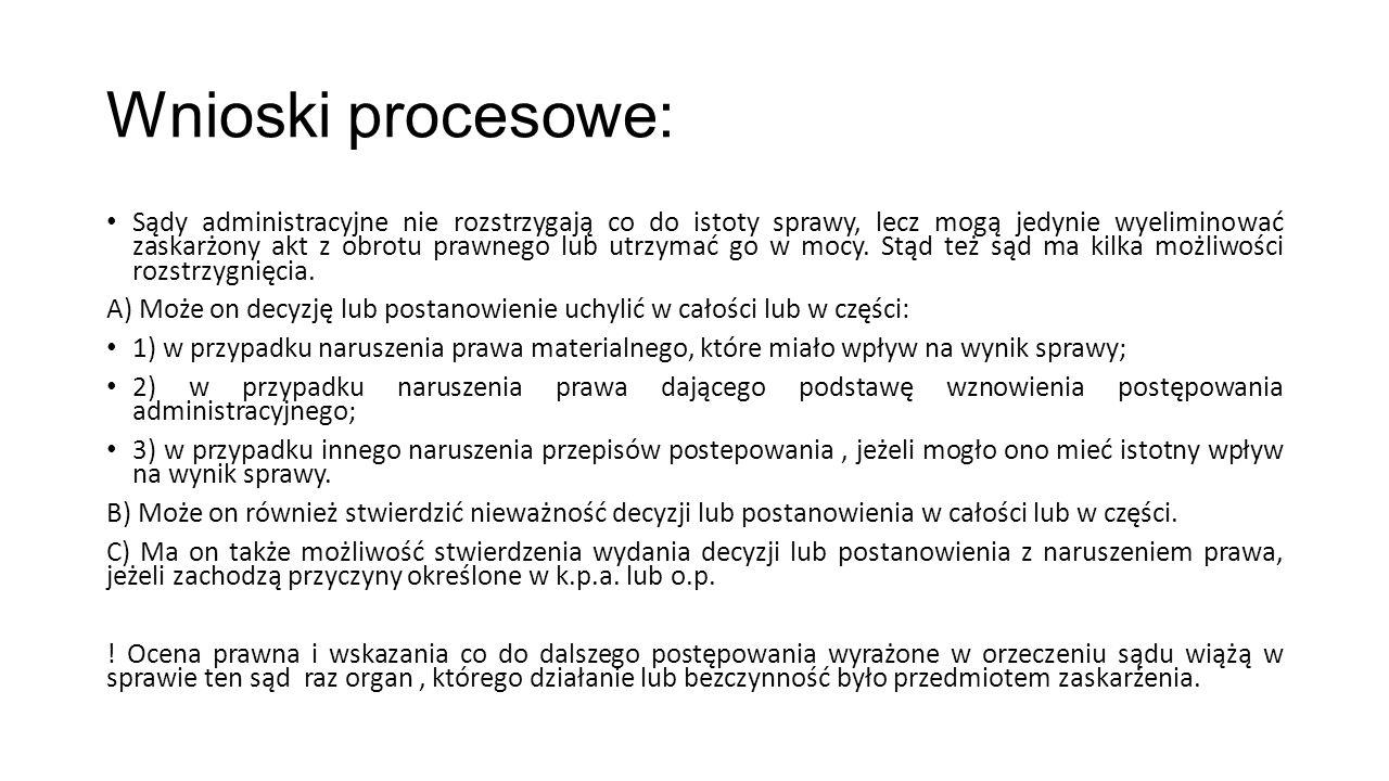 Wnioski procesowe: