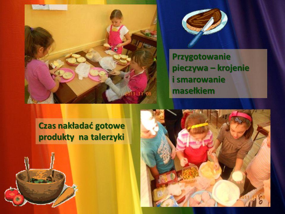 Przygotowanie pieczywa – krojenie i smarowanie masełkiem