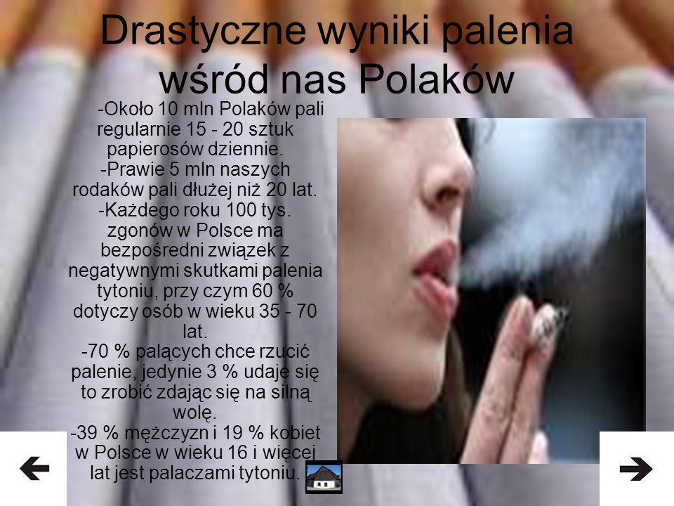 Drastyczne wyniki palenia wśród nas Polaków