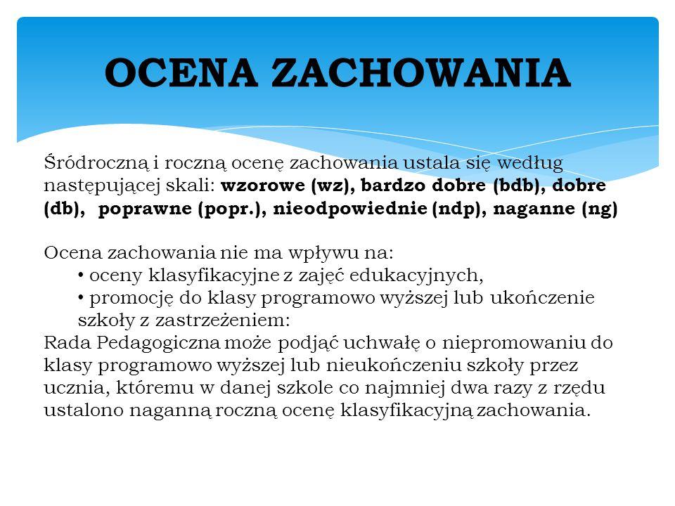 OCENA ZACHOWANIA