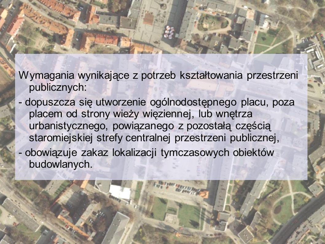 Wymagania wynikające z potrzeb kształtowania przestrzeni publicznych: