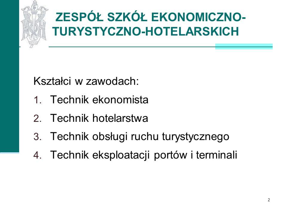 ZESPÓŁ SZKÓŁ EKONOMICZNO- TURYSTYCZNO-HOTELARSKICH