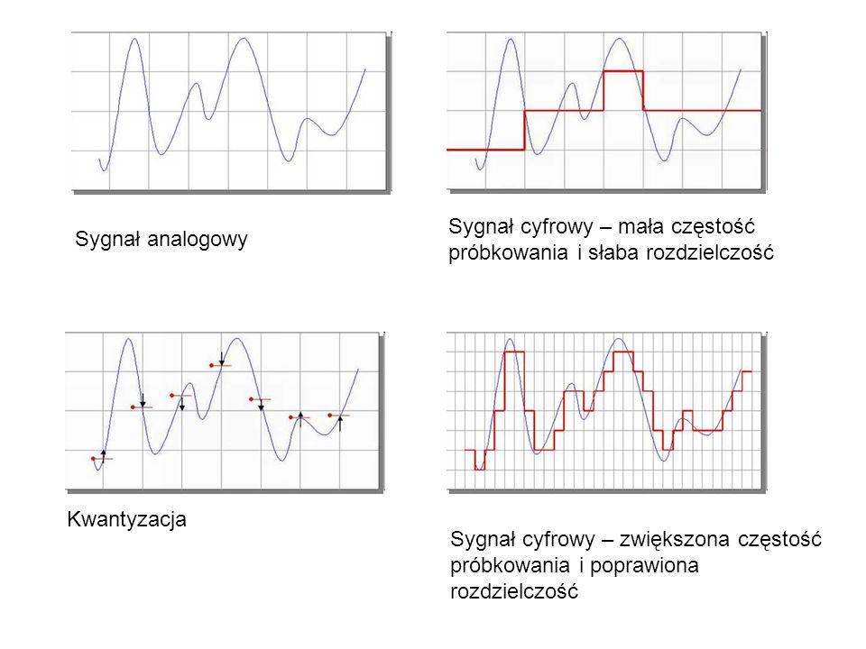 Sygnał cyfrowy – mała częstość próbkowania i słaba rozdzielczość